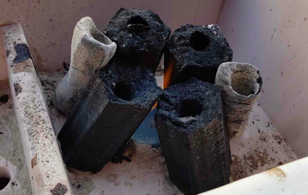 オガ備長炭,着火,アルコール燃料,簡単,コツ