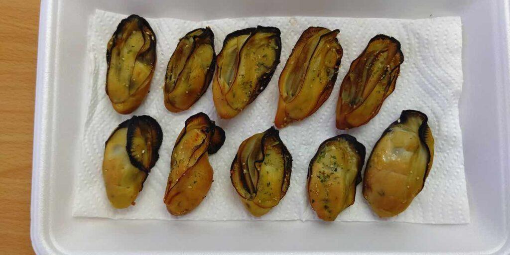 牡蠣燻製,ヒッコリー