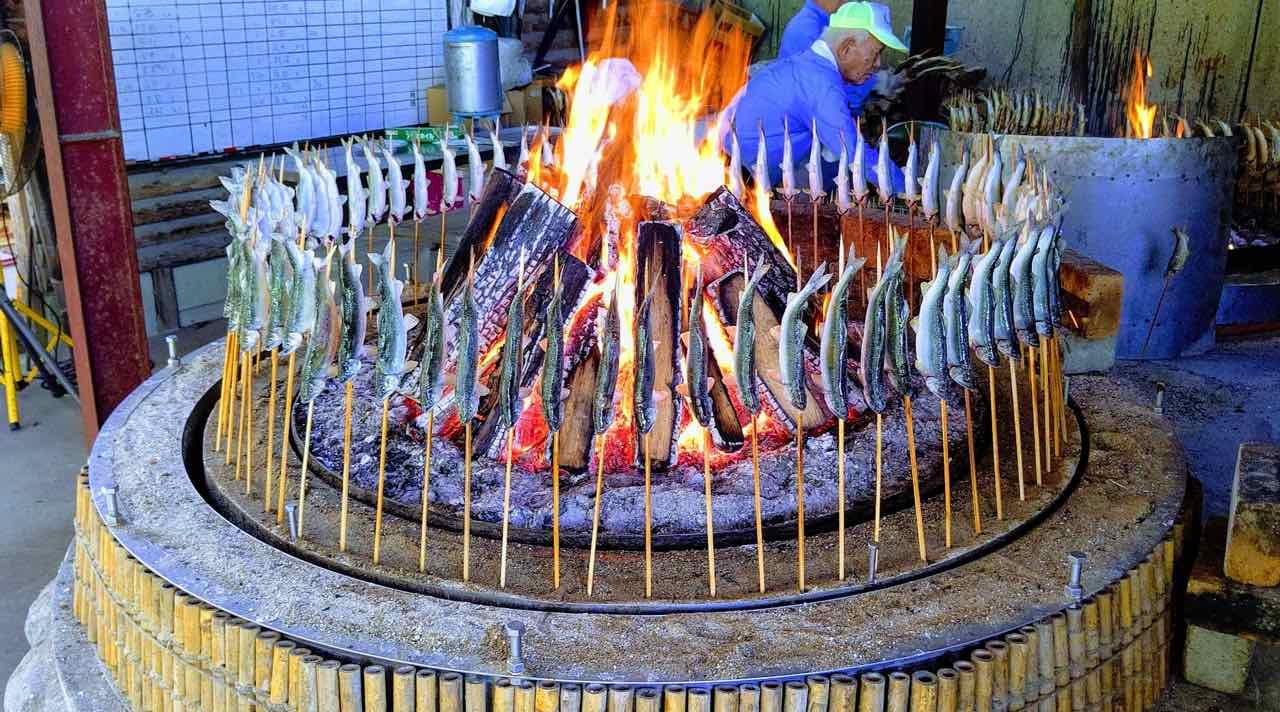 鮎,薪,強火,乾燥